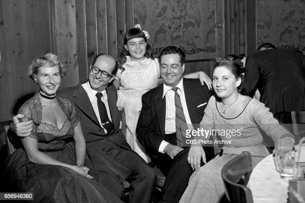 Genevieve Halford Gleason Phil Silvers Linda Gleason Jackie Gleason and Geraldine Gleason celebrate at The Jackie Gleason Show after party at Toots...