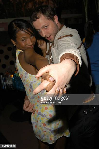 Genevieve Jones and Derek Blasberg attend JORDANA BREWSTER's Blame it on Rio Birthday Party hosted by CABANA CACHACA at Bungalow 8 on April 20 2006...