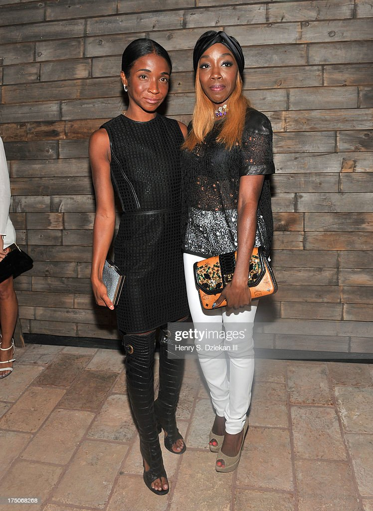 Genevieve Jones and Estelle attend The Cinema Society and MCM with Grey Goose screening of Radius TWC's 'Lovelace' after party at Refinery Rooftop on July 30, 2013 in New York City.