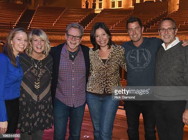 Genevieve Laas Ryman events manager, Singer/Songwriter Natalie Grant, Singer/Songwriter/Host Steven Curtis Chapman, Sally Williams VP/GM Ryman,...