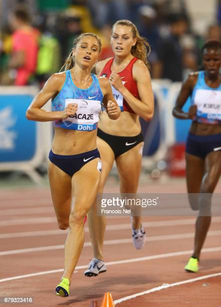 Genevieve LaCaze of Australia competes in the Women's 3000 metres steeplechase during the Doha IAAF Diamond League 2017 at the Qatar Sports Club on...