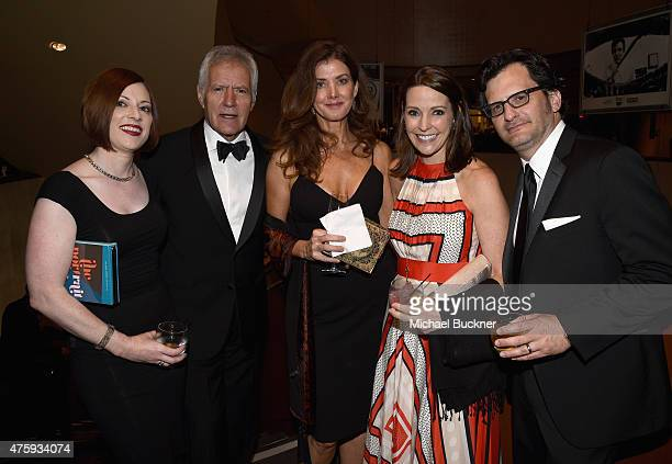 Genevieve McGillicuddy TV personality Alex Trebek Jean Currivan Trebek Jennifer Dorian General Manager of TCM and TV personality Ben Mankiewicz pose...