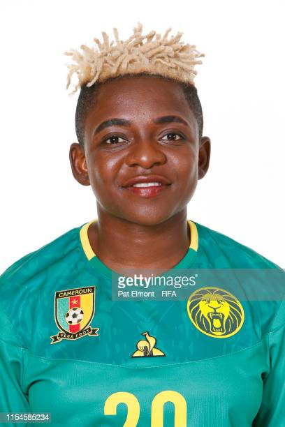 Genevieve Ngo Mbeleck of Cameroon poses for a portrait during the official FIFA Women's World Cup 2019 portrait session at Crowne Plaza Montpellier...