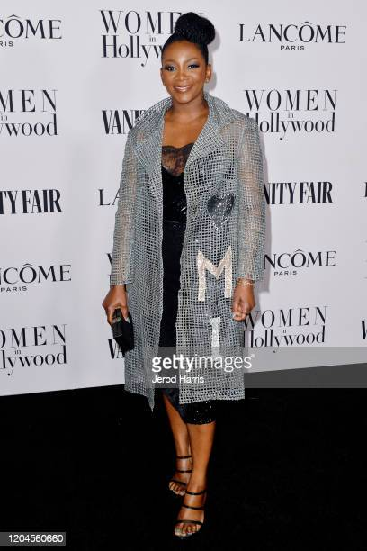 Genevieve Nnaji arrives at Vanity Fair and Lancôme Women In Hollywood Celebration at Soho House on February 06 2020 in West Hollywood California