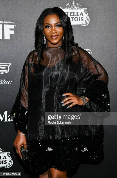 Genevieve Nnaji attends 13th Annual Women In Film Female Oscar Nominees Party at Sunset Room Hollywood on February 07 2020 in Hollywood California
