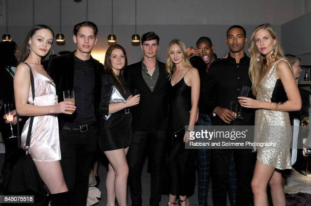Genevieve Potgieter and other guests attend Etihad Airways Celebrating Runway To Runway With Special Guest Julien MacDonald Obe at Skylight Clarkson...