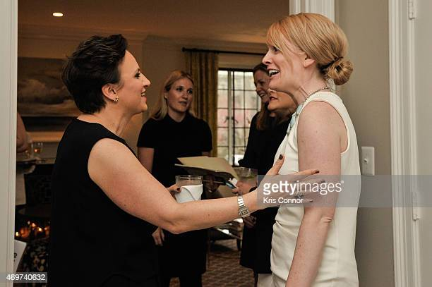 Genevieve Roth and guest attend a reception to honor Giovanna Gray Giovanna Gray Lockhart as the new Glamour Washington DC Editor at a private...