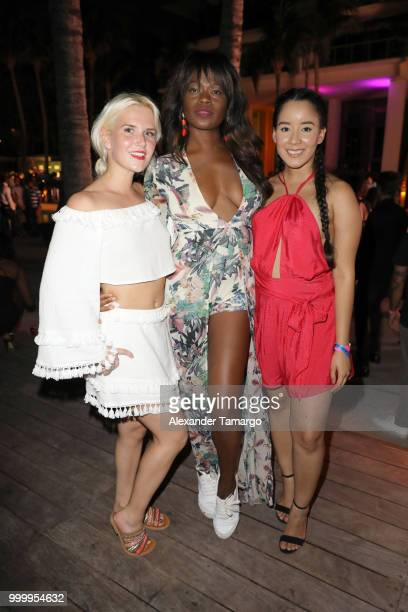 Genevieve Shaffer Tayo Otiti and Heidi Malaret attend the 2018 Sports Illustrated Swimsuit party at PARAISO during Miami Swim Week at The W Hotel...