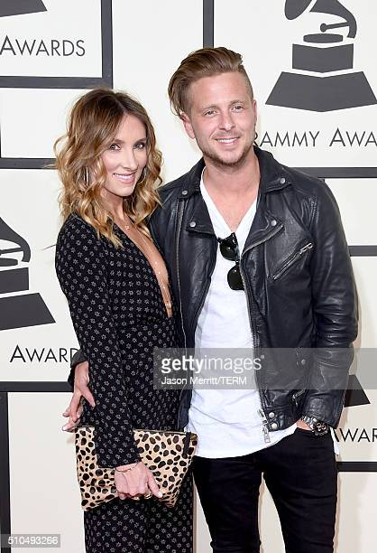 Genevieve Tedder and musician Ryan Tedder of OneRepublic attend The 58th GRAMMY Awards at Staples Center on February 15 2016 in Los Angeles California