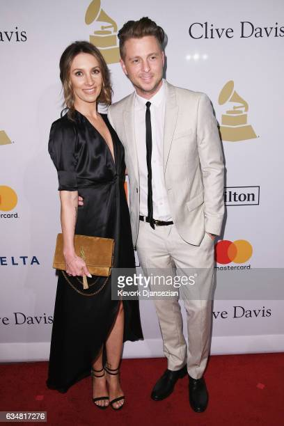 Genevieve Tedder and recording artist Ryan Tedder of music group OneRepublic attend PreGRAMMY Gala and Salute to Industry Icons Honoring Debra Lee at...