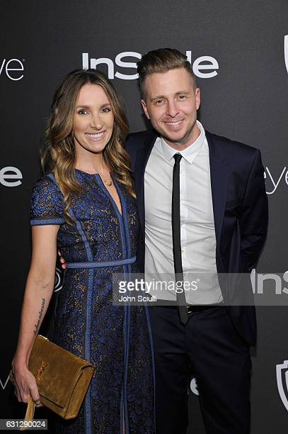 Genevieve Tedder and Ryan Tedder attend The 2017 InStyle and Warner Bros 73rd Annual Golden Globe Awards PostParty at The Beverly Hilton Hotel on...