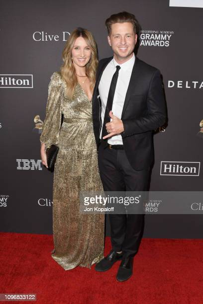 Genevieve Tedder and Ryan Tedder attend The Recording Academy And Clive Davis' 2019 PreGRAMMY Gala at The Beverly Hilton Hotel on February 9 2019 in...
