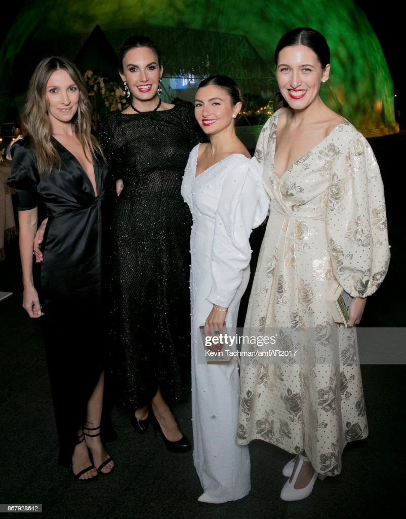 Genevieve Tedder, Elizabeth Champers, Nasiba Hartland-Mackie and Emilia Wickstead at TWO X TWO for AIDS and Art 2017 at The Rachofsky House on October 28, 2017 in Dallas, Texas.
