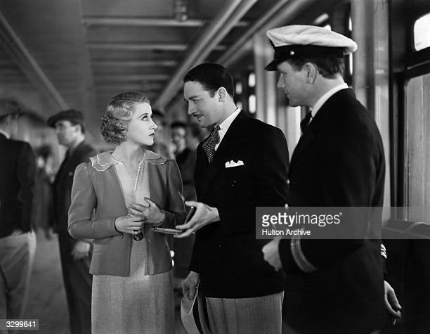 Genevieve Tobin and Ralph Forbes star in the film 'Pleasure Cruise', directed by Frank Tuttle for 20th Century Fox.