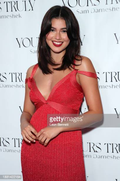 """Genevieve Van Dam attends Celebrity Photographer Sam Dameshek's Black Tie Book Release Event For """"Yours Truly"""" at Fellow on July 29, 2021 in Los..."""