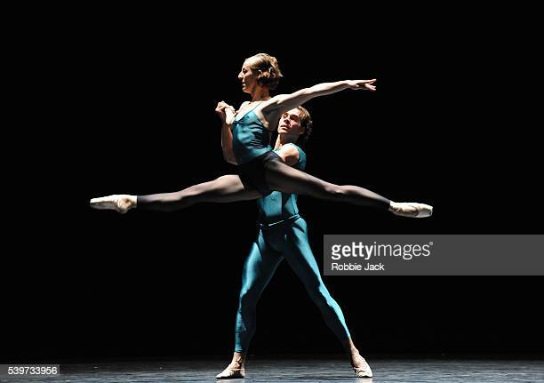 Genevieve Van Quaquebeke and Sanny Kleef perform in the Royal Ballet of Flanders production of William Forsythe's Impressing the Czar at Sadlers...