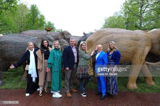 Geneviève Britton, Amy Jackson, Ruth Ganesh, Richard Hawkes, Joanna Lumley, Sergio Momo and Donna Air celebrate The Elephant Family's CoExistence...