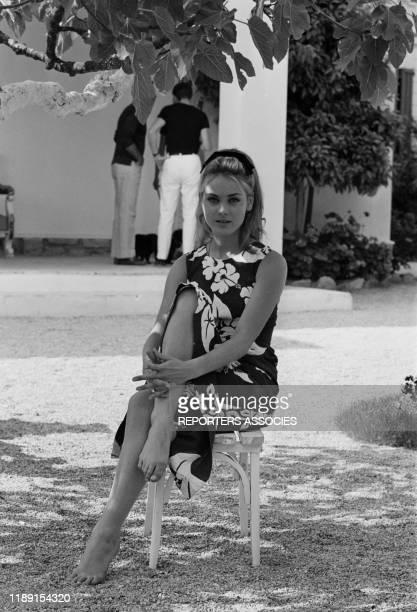Geneviève Grad lors du tournage du film 'Le gendarme de SaintTropez' réalisé par Jean Girault le 22 mai 1964 à SaintTropez France