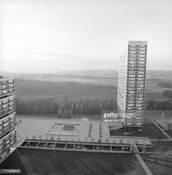 """Die neu erbaute Satellitenstadt """"Le Lignon""""; 1971"""