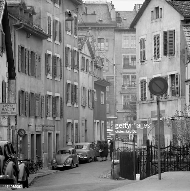 Gasse im Stadtviertel Monbrillant 1958
