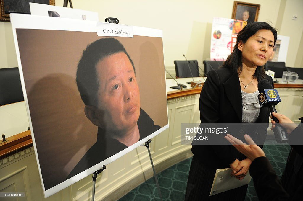 Geng He, the wife of missing Chinese dis : News Photo