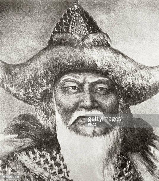 Genghis Khan Emperor of Mogol Empire Engraving