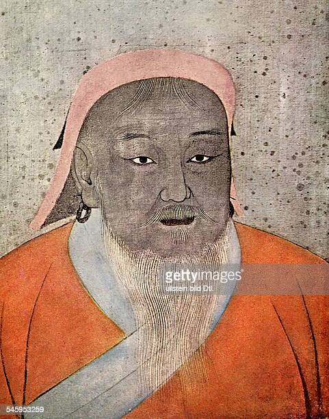Genghis Khan Genghis Khan ca *11621227 Founder of the Mongol Empire portrait depicting Genghis Khan around 1220 13th century