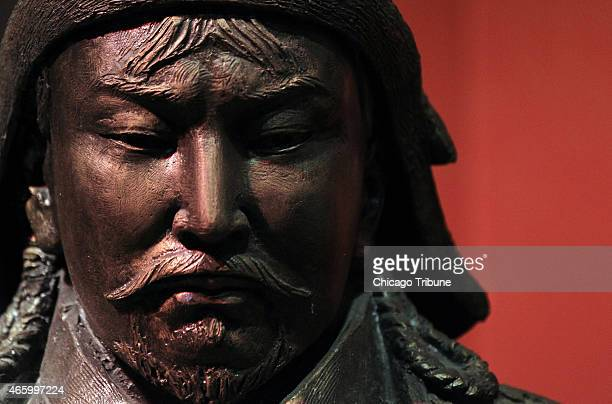 A Genghis Khan statue in the Genghis Khan exhibit on Feb 21 2013 at the Field Museum in Chicago The exhibit showcases the largest single collection...