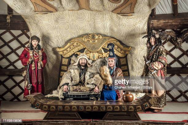 genghis khan warriors - empire stock pictures, royalty-free photos & images