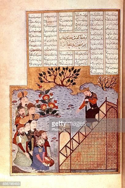 Gengis Khan preaching at Bukhara mosque 14th century Persian school London British museum