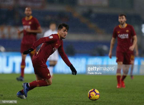 Gengiz Under of AS Roma in action during the Serie A match between AS Roma and Genoa CFC at Stadio Olimpico on December 16 2018 in Rome Italy