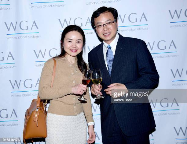 Gengsheng Lu and Andy Zhong attend Launch Of New Entity Withers Global Advisors at 432 Park Avenue on April 3 2018 in New York City Gengsheng LuAndy...