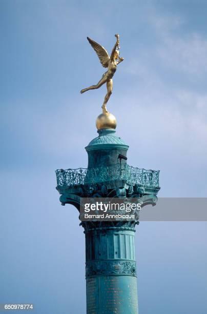 Genie on the Colonne de Juillet in Place de la Bastille