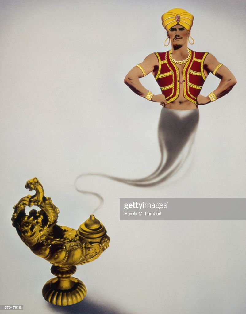 Genie In A Lamp : Stock Photo