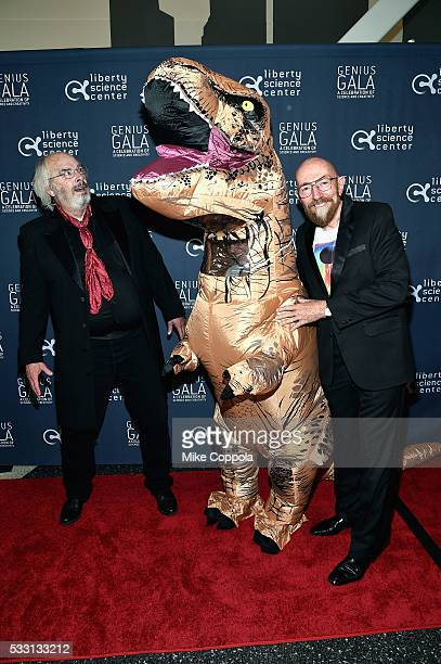 Genius Award Honorees Paleontologist Jack Horner and Physicist Kip Thorne attend at the Liberty Science Center's Genius Gala 50 on May 20 2016 in...