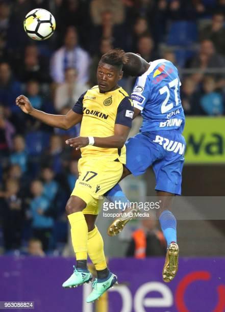 20180427 Genk Belgium / Krc Genk v Club Brugge / 'nAnthony LIMBOMBE Clinton MATA'nFootball Jupiler Pro League 2017 2018 PlayOff 1 Matchday 6 /...