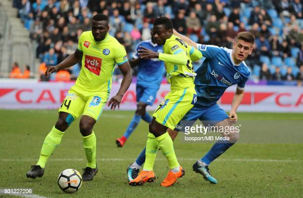 20180311 Genk Belgium / Krc Genk v Kaa Gent / 'nAnderson ESITI Nana ASARE Joakim MAEHLE'nFootball Jupiler Pro League 2017 2018 Matchday 30 /...