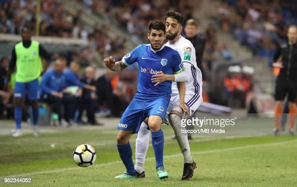 20180421 Genk Belgium / Krc Genk v Rsc Anderlecht / 'nAlejandro POZUELO Josue SA'nFootball Jupiler Pro League 2017 2018 PlayOff 1 Matchday 5 /...