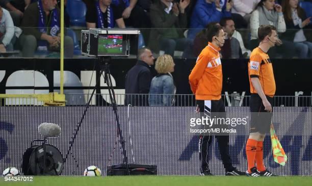 20180407 Genk Belgium / Krc Genk v Standard de Liege / nVideo assistant referee VARnFootball Jupiler Pro League 2017 2018 PlayOff 1 Matchday 2 /...