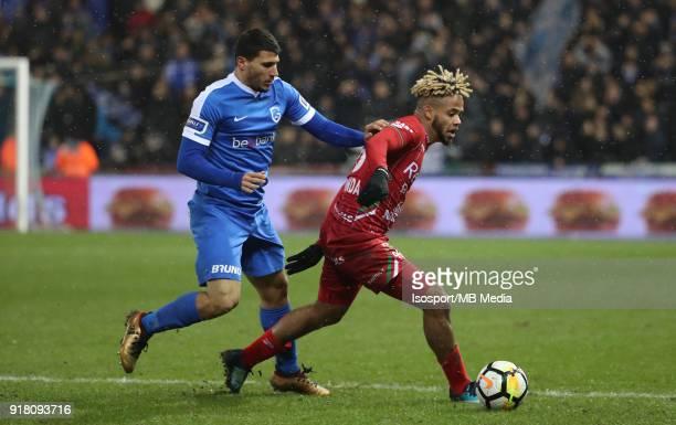 20180209 Genk Belgium / Krc Genk v Zulte Waregem / 'nNikolaos KARELIS Theo BONGONDA'nFootball Jupiler Pro League 2017 2018 Matchday 26 / 'nPicture by...