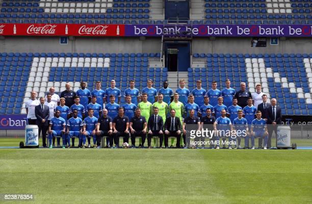 20170706 Genk Belgium / Photoshoot Krc Genk 2017 2018 / 'n'nBack row Jacques RAYMAEKERS Alain VANDERLINDEN Ally SAMATTA Bryan HEYNEN Sebastien...