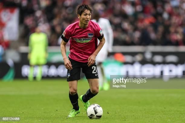Genki Haraguchi of Berlin controls the ball during the Bundesliga match between 1 FC Koeln and Hertha BSC at RheinEnergieStadion on March 18 2017 in...