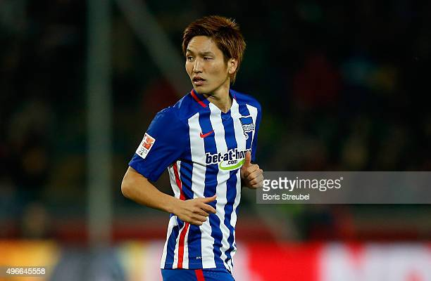 Genki Haraguchi of Berlin looks on during the Bundesliga match between Hannover 96 and Hertha BSC at HDIArena on November 6 2015 in Hanover Germany