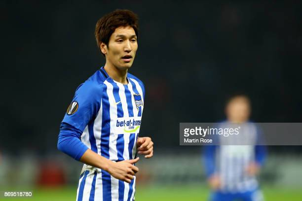 Genki Haraguchi of Hertha BSC Berlin of Hertha BSC Berlin looks on during the UEFA Europa League group J match between Hertha BSC and Zorya Lugansk...