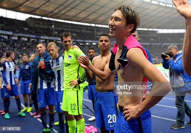 Genki Haraguchi of Hertha BSC during the Bundesliga match between Hertha BSC and Hamburger SV on October 1 2016 in Berlin Germany