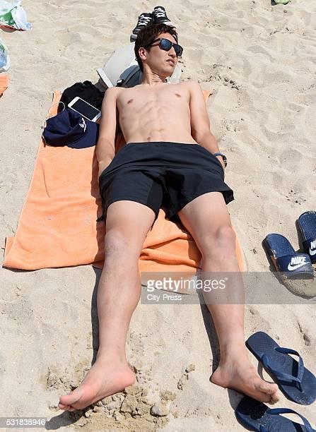 Genki Haraguchi of Hertha BSC during the graduation ride of Hertha BSC on may 17 2016 in Palma de Mallorca Spain
