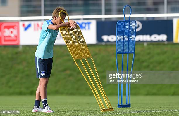 Genki Haraguchi of Hertha BSC during the training camp in Schladming on July 20 2015 in Schladming Austria
