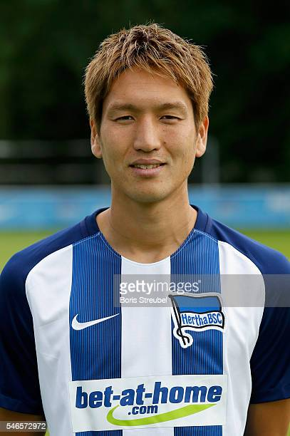 Genki Haraguchi of Hertha BSC poses during the Hertha BSC Team Presentation on July 12 2016 in Berlin Germany