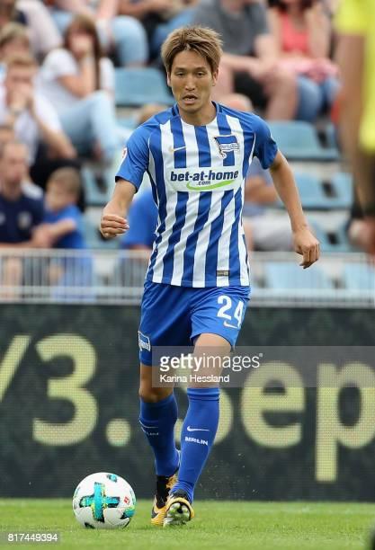 Genki Haraguchi of Hertha during the Preseason Friendly match between FC Carl Zeiss Jena and Hertha BSC on July 16 2017 in Jena Germany