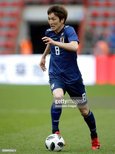 Genki Haraguchi of Japan during the International Friendly match between Japan v Ukraine at the Stade Maurice Dufrasne on March 27 2018 in Luik...